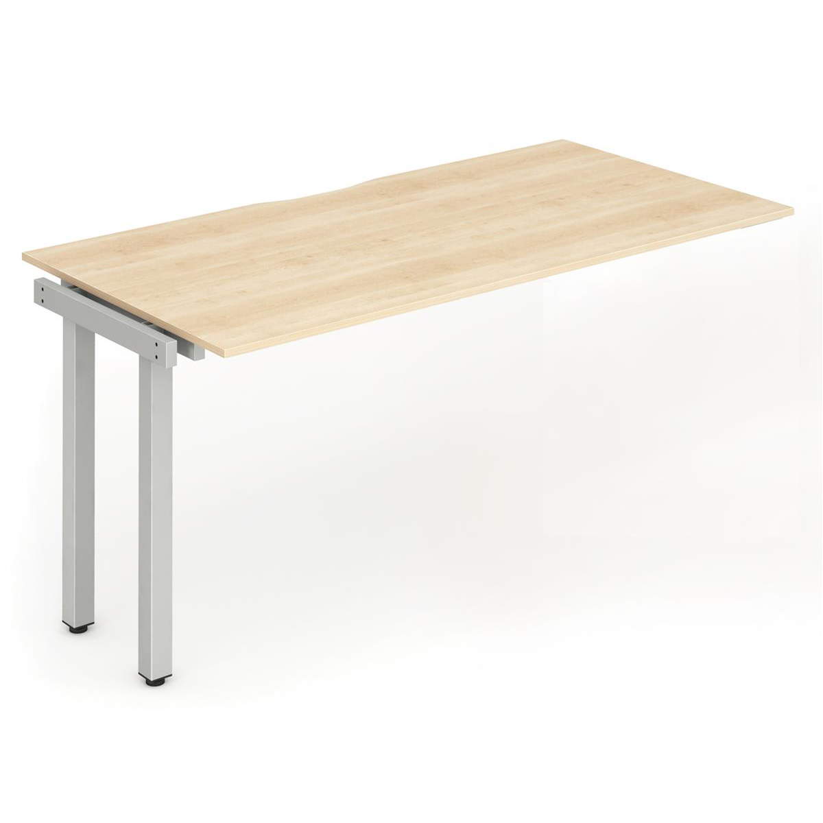 Trexus Bench Desk Single Extension Silver Leg 1200x800mm Maple Ref BE336