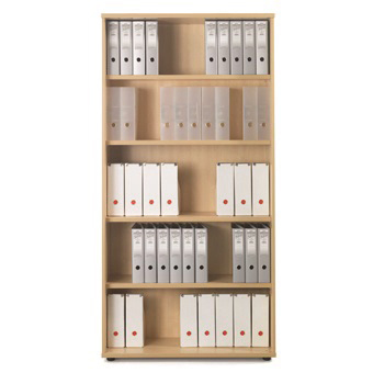 Sonix Very Tall Bookcase 1000x425x2000mm 4 Shelves Acer Maple Ref w9874m