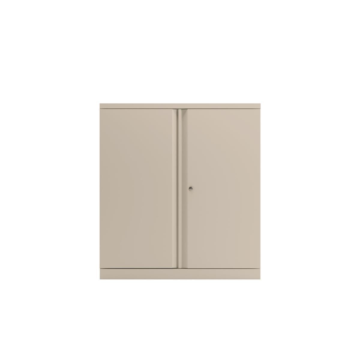 Storage cabinets Bisley Two Door Steel Storage Cupboard 914x470x1000-1015mm White Ref YECB0910/1S-ab9