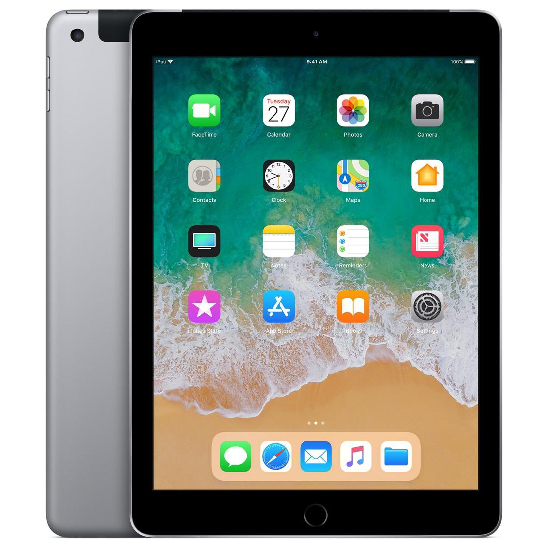 Apple iPad Cellular Wi-Fi 32GB 8Mp Camera 9.7inch Touch ID Finger Sensor Space Grey Ref MP242B/A