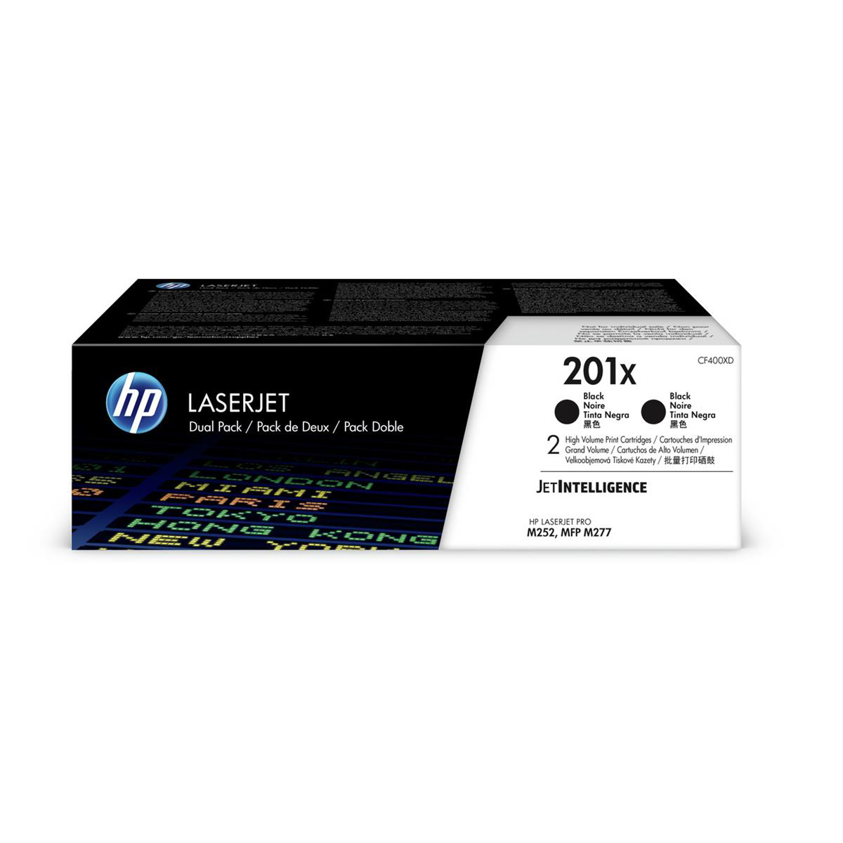 HP 201X Toner Cartridge High Yield Page Life 2800pp Black Ref CF400XD Pack 2