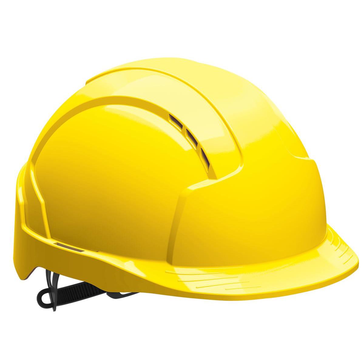 Head Protection JSP EVOLite Safety Helmet ABS 6-point Terylene Harness EN397 Standard Yellow Ref AJB160-000-200