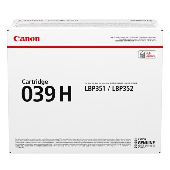 Canon CRG 039H Laser Toner Cartridge High Yield Black Ref 0288C001