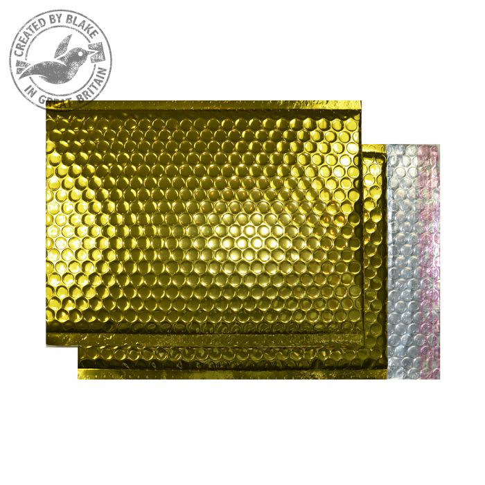 Purely Packaging Bubble Envelope P&S C3 Metallic Gold Ref MBGOL450 Pk 50 *10 Day Leadtime*