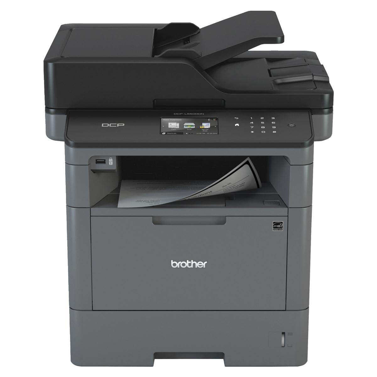 Laser Printers Brother DCP-L5500DN Pro All-In-One Mono A4 Laser Printer 40ppm Auto Duplex Ref DCPL5500DNZU1