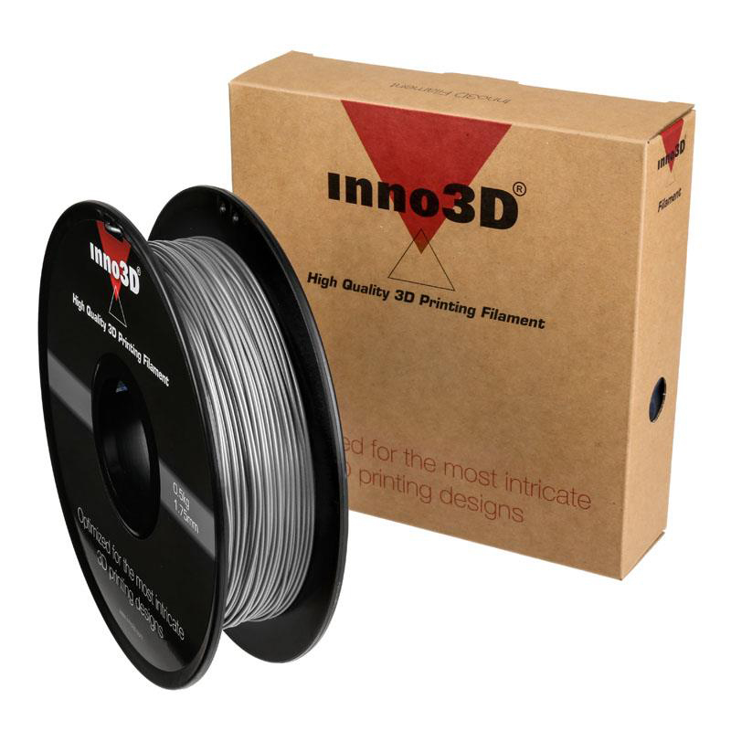 Inno3D ABS Filament for 3D Printer 1.75x200mm 0.5kg Silver Ref 3DPFA175SL05