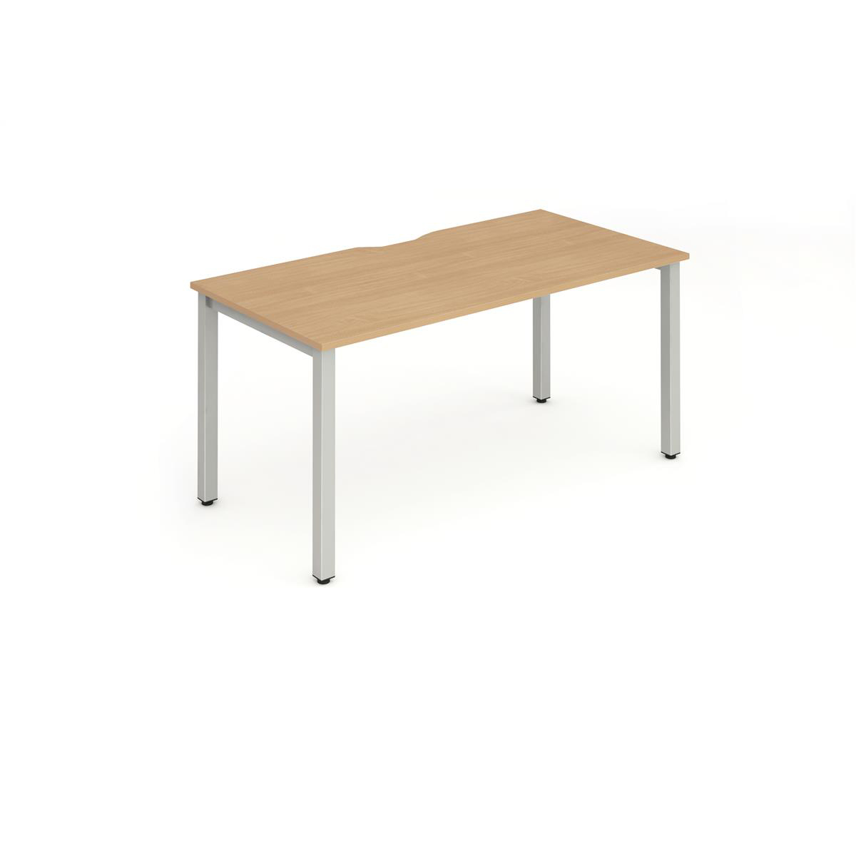 Trexus Bench Desk Individual Silver Leg 1200x800mm Beech Ref BE267