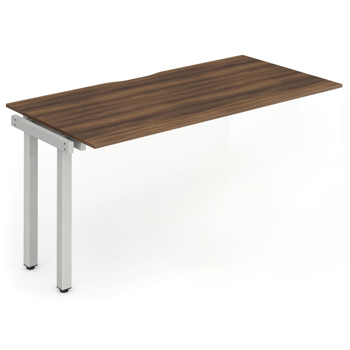 Trexus Bench Desk Single Extension Silver Leg 1200x800mm Walnut Ref BE339