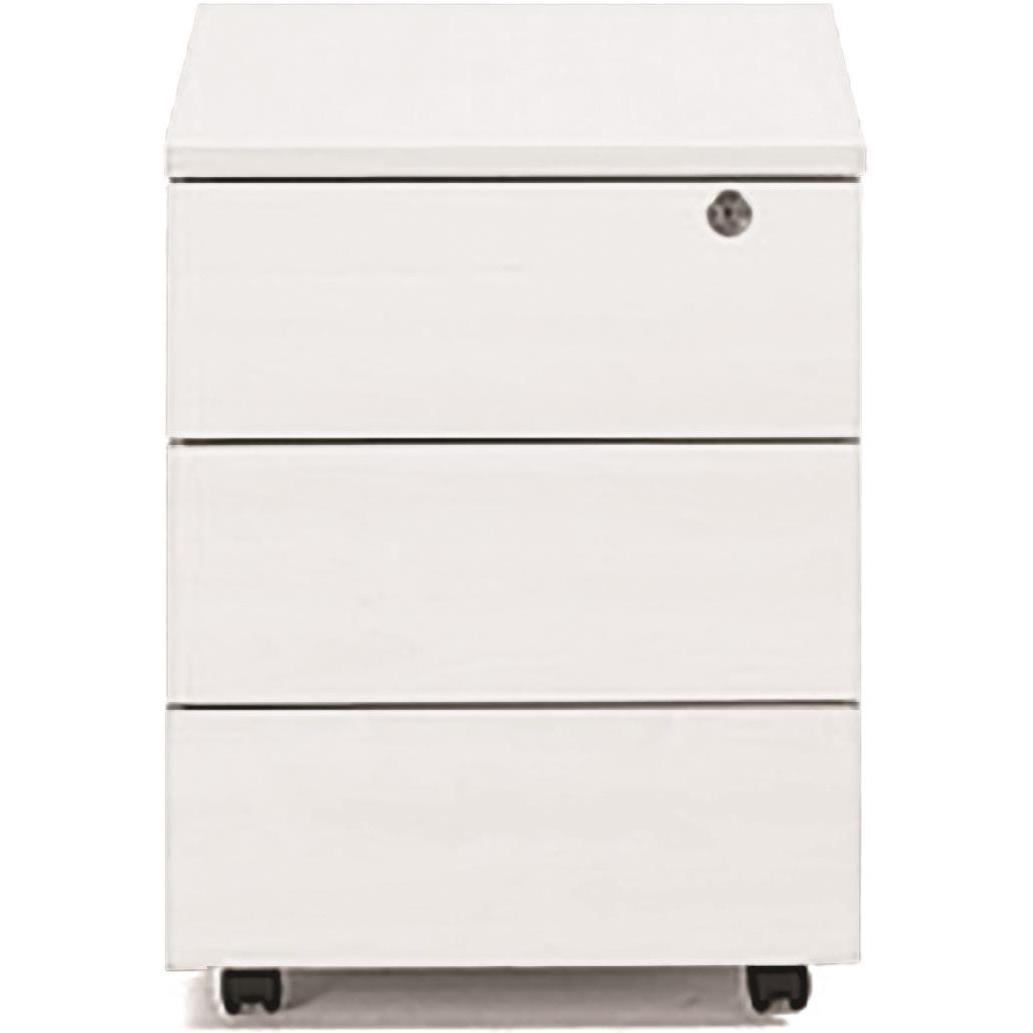 Sonix 3 Drawer Mobile Pedestal 430x575x565mm Polar White Ref w9975wh