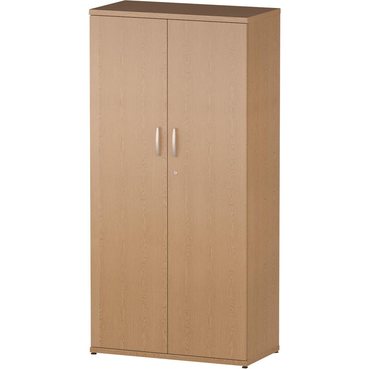 Trexus Office High Cupboard 800x400x1600mm 3 Shelves Oak Ref I000802