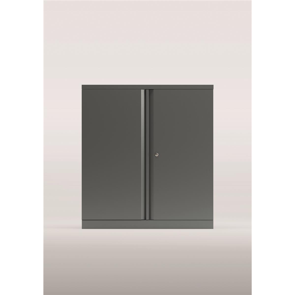 Storage cabinets Bisley Two Door Steel Storage Cupboard 914x470x1000-1015mm Silver Ref YECB0910/1S-arn