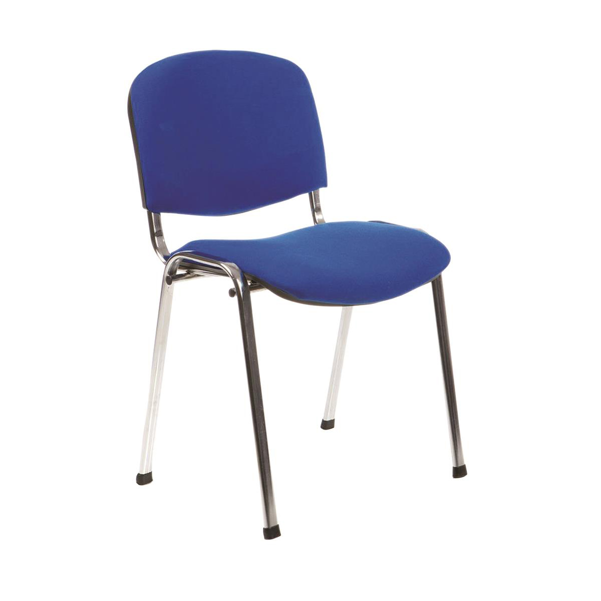 Trexus Stacking Chair Chrome Frame Blue 480x420x500mm Ref BR000068
