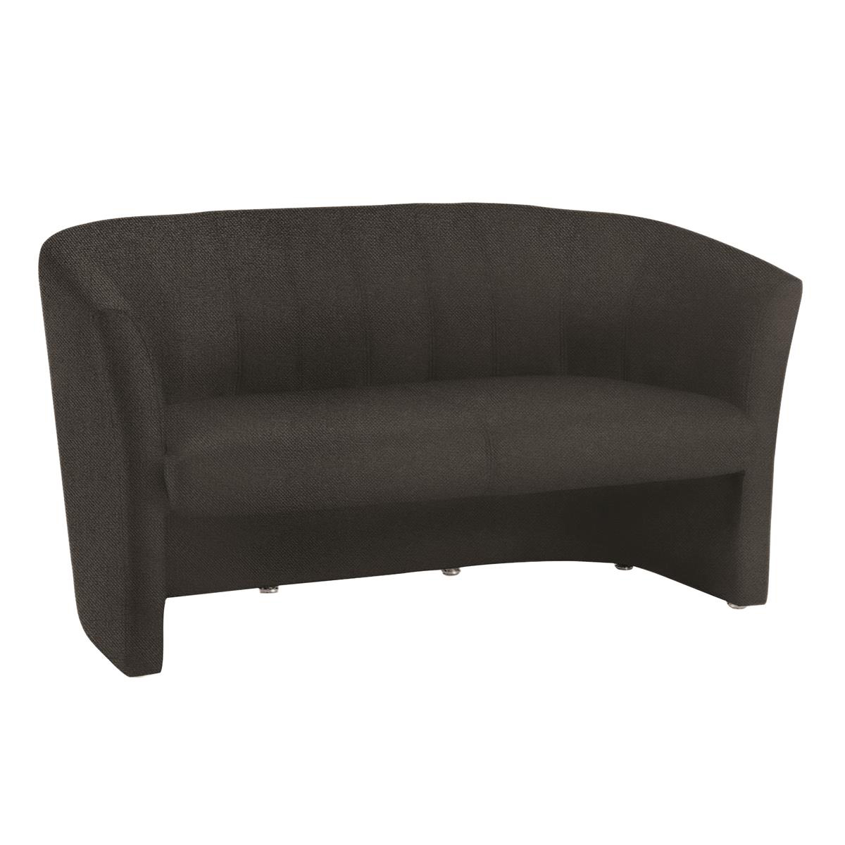 #Trexus Tub 2 Seater Sofa Black 970x510x460mm Ref BR000106