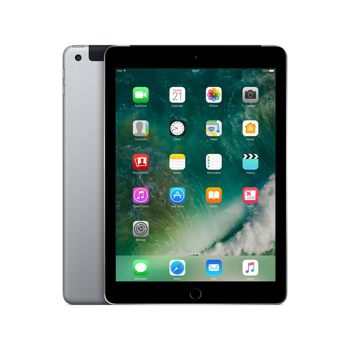 Apple iPad Cellular Wi-Fi 128GB 8Mp Camera 9.7inch Touch ID Finger Sensor Space Grey Ref MP2D2B/A