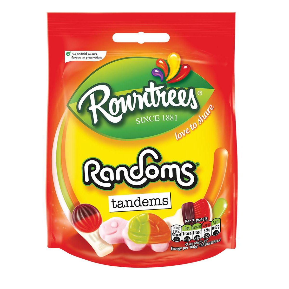 Sweets / Chocolate Rowntree Randoms Bags 150g Jelly Sweets Ref 12437438