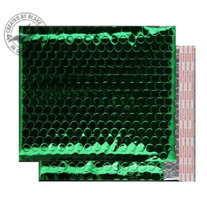 Purely Packaging Bubble Envelope P&S CD Metallic Green Ref MBGRE250 [Pk100] *10 Day Leadtime*