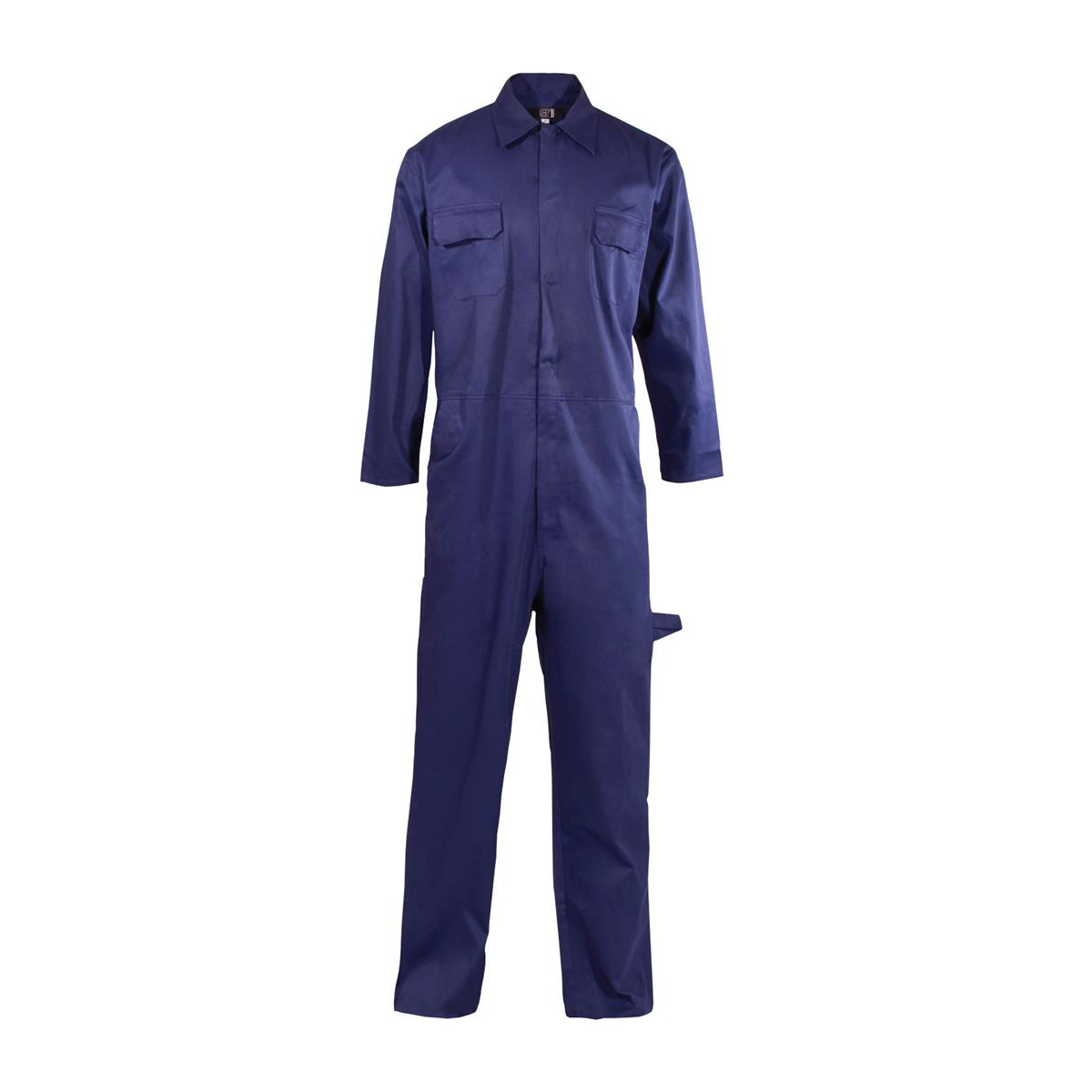Coverall Basic with Popper Front Opening Polycotton Large Navy *Approx 3 Day Leadtime*