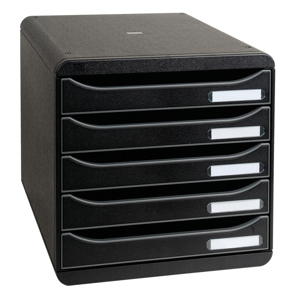 Desktop trays or organizers Exacompta Big Box Plus 5 Drawer Set Plastic H43mm A4plus Black Ref 309714D