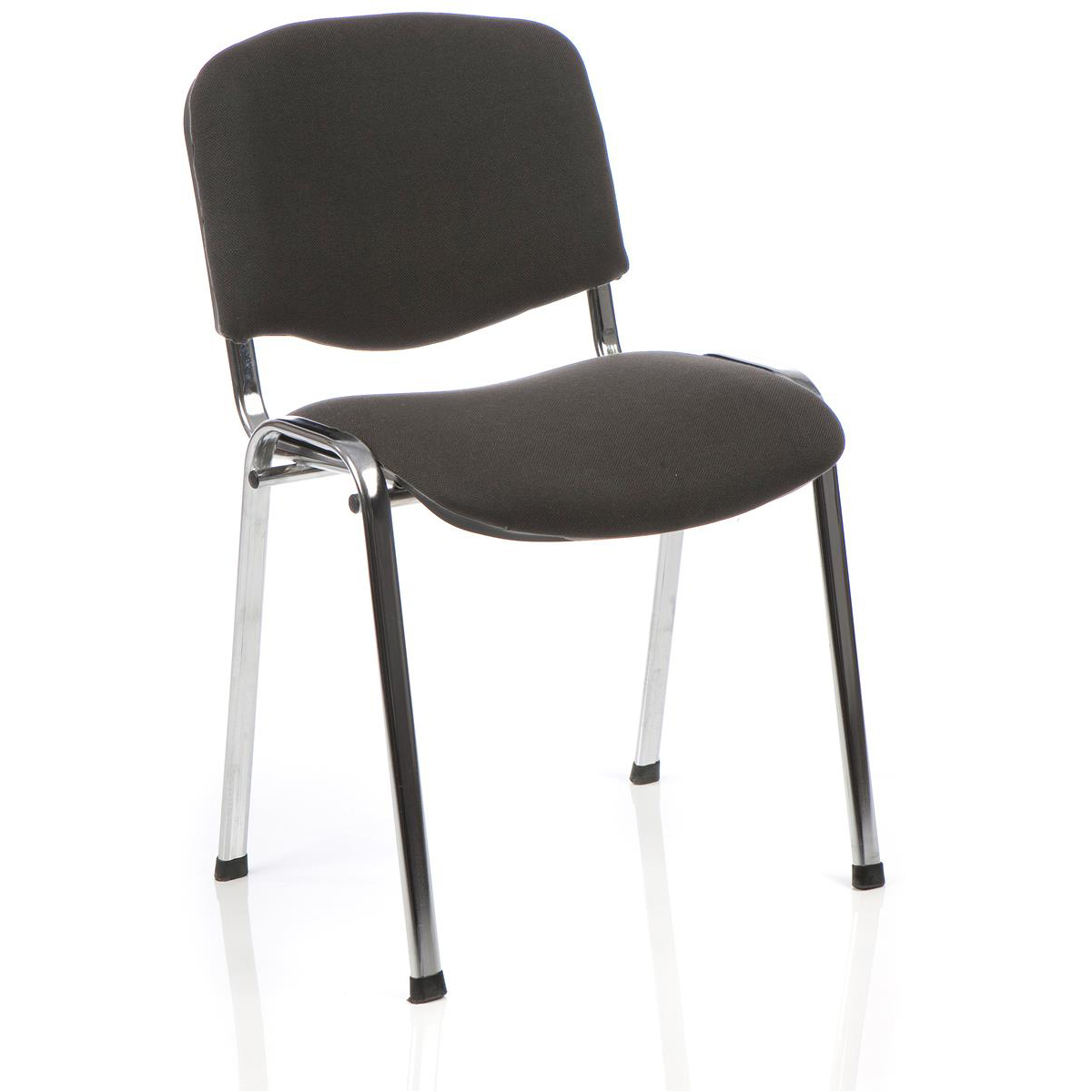 &Trexus Stacking Chair Chrome Frame Charcoal 480x420x500mm Ref BR000069