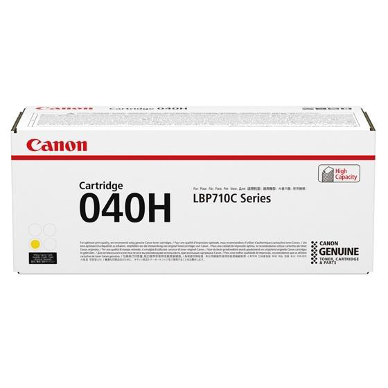 Canon 040H Laser Toner Cartridge High Yield Page Life 10,000pp Yellow Ref 0455C001
