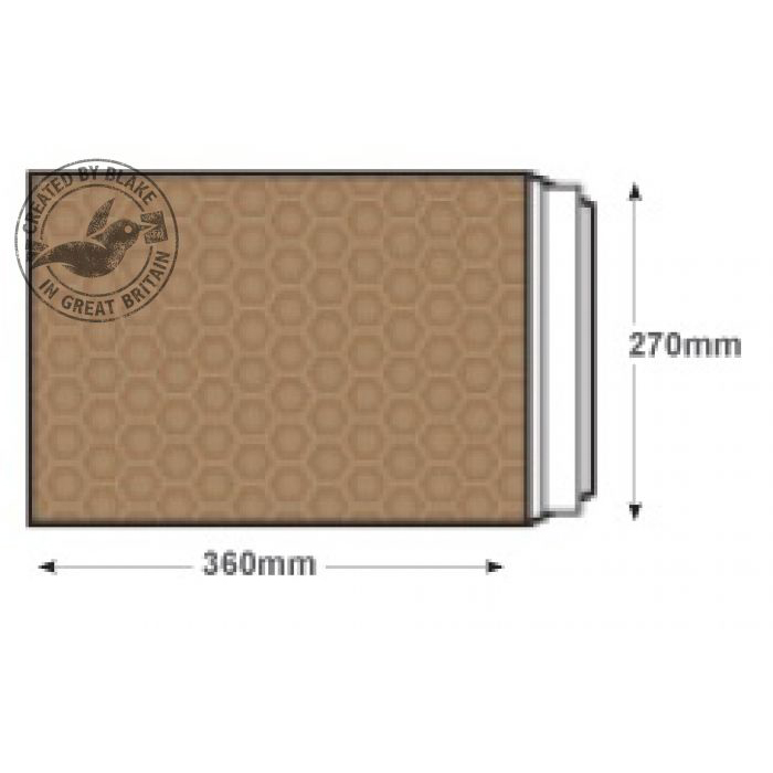 Blake Purely Packaging Padded Bubble Pocket P&S 360x270mm Gold Ref H/5GOLD [Pk100] 10 Day Leadtime