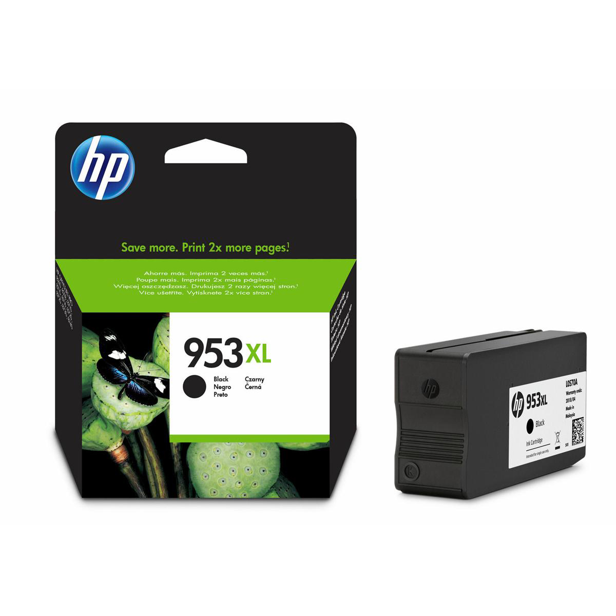 Hewlett Packard [HP] No.953XL Inkjet Cartridge High Yield 2000pp 42.5ml Black Ref L0S70AE