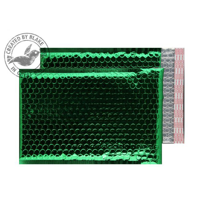 Purely Packaging Bubble Envelope P&S C5+ Metallic Green Ref MBGRE250 [Pk100] *10 Day Leadtime*
