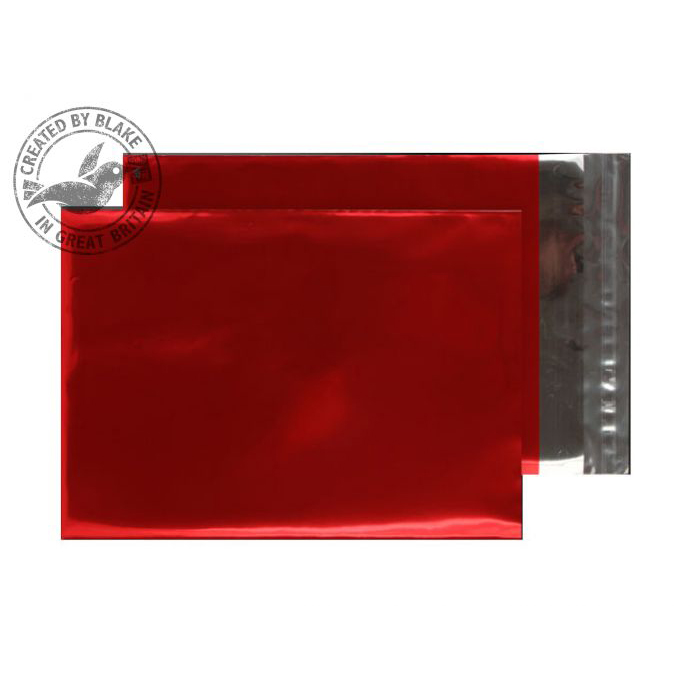 Purely Packaging Foil Pocket P&S 70 Mic 324x229mm Met Red Ref MF906 Pack 250 *10 Day Leadtime*