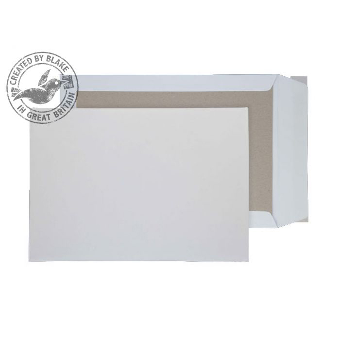 Purely Packaging Envelope Board Backed P&S 120gsm C3 White Ref 5200 Pack 100 *10 Day Leadtime*