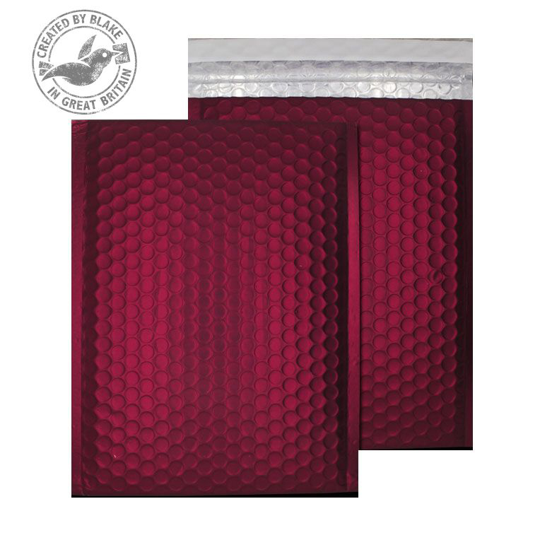 Purely Packaging Bubble Envelope P&S C5+ Matt Metallic Wine Ref MTWR250 Pk 100 *10 Day Leadtime*