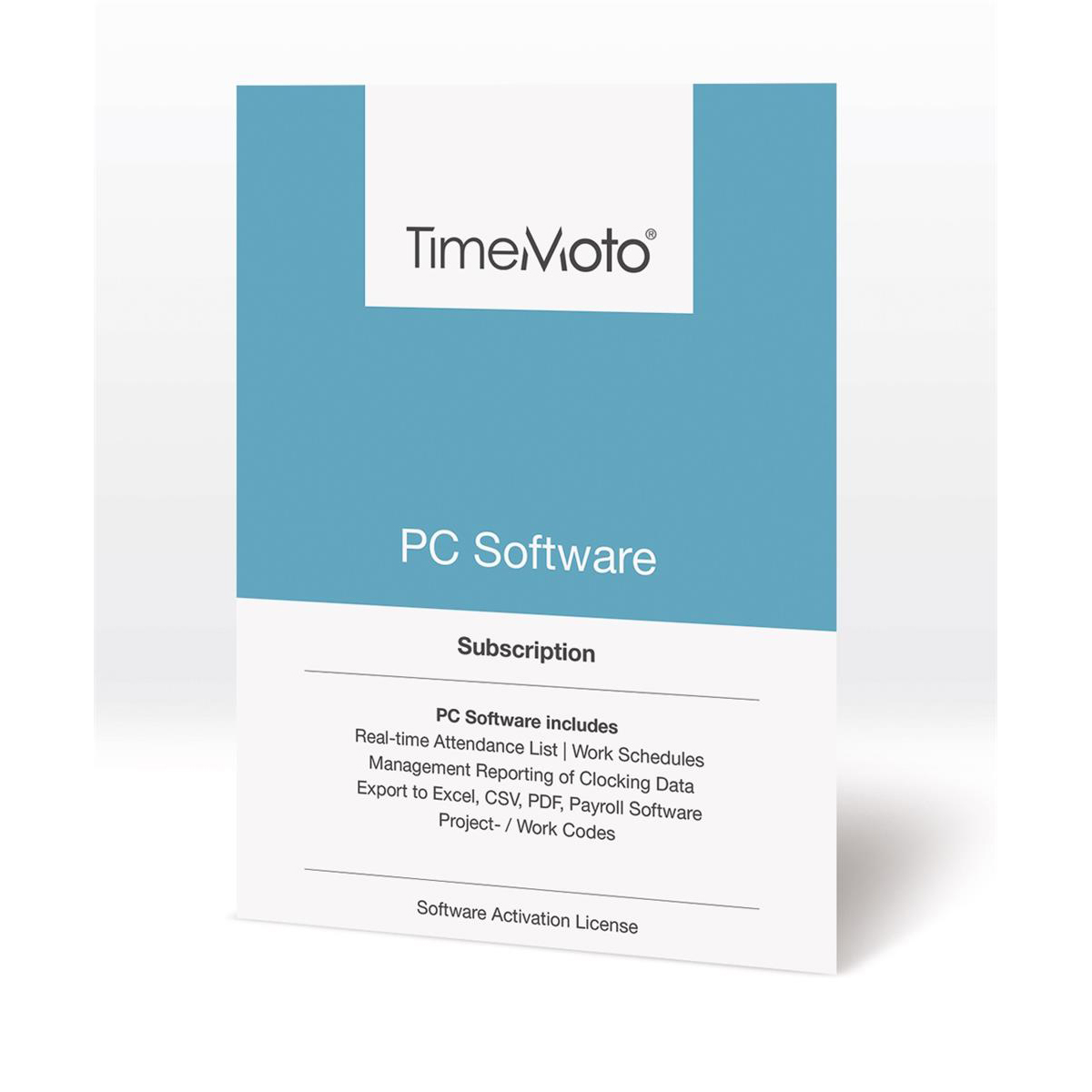 Safescan TimeMoto TM PC Software for Time & Attendance System Unlimited Users Ref 139-0601