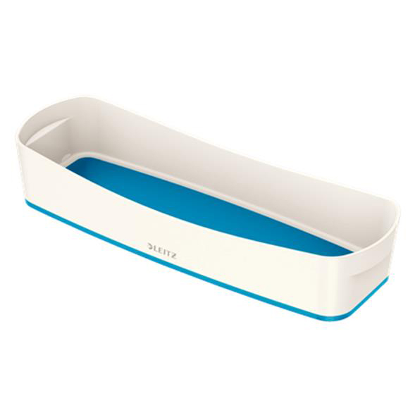 Leitz MyBox Long Organiser Tray Plastic(ABS) W307xD105xH55mm White/Blue Ref 52581036