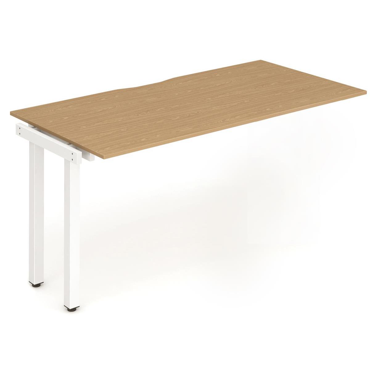 Trexus Bench Desk Single Extension White Leg 1200x800mm Oak Ref BE318