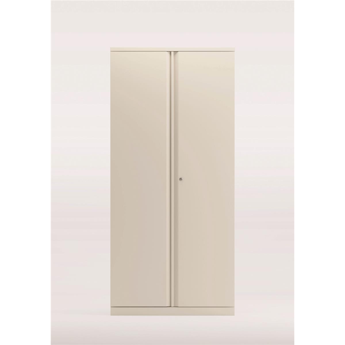 Storage cabinets Bisley Two Door Steel Storage Cupboard 914x470x1970-1985mm White Ref YECB0919-ab9