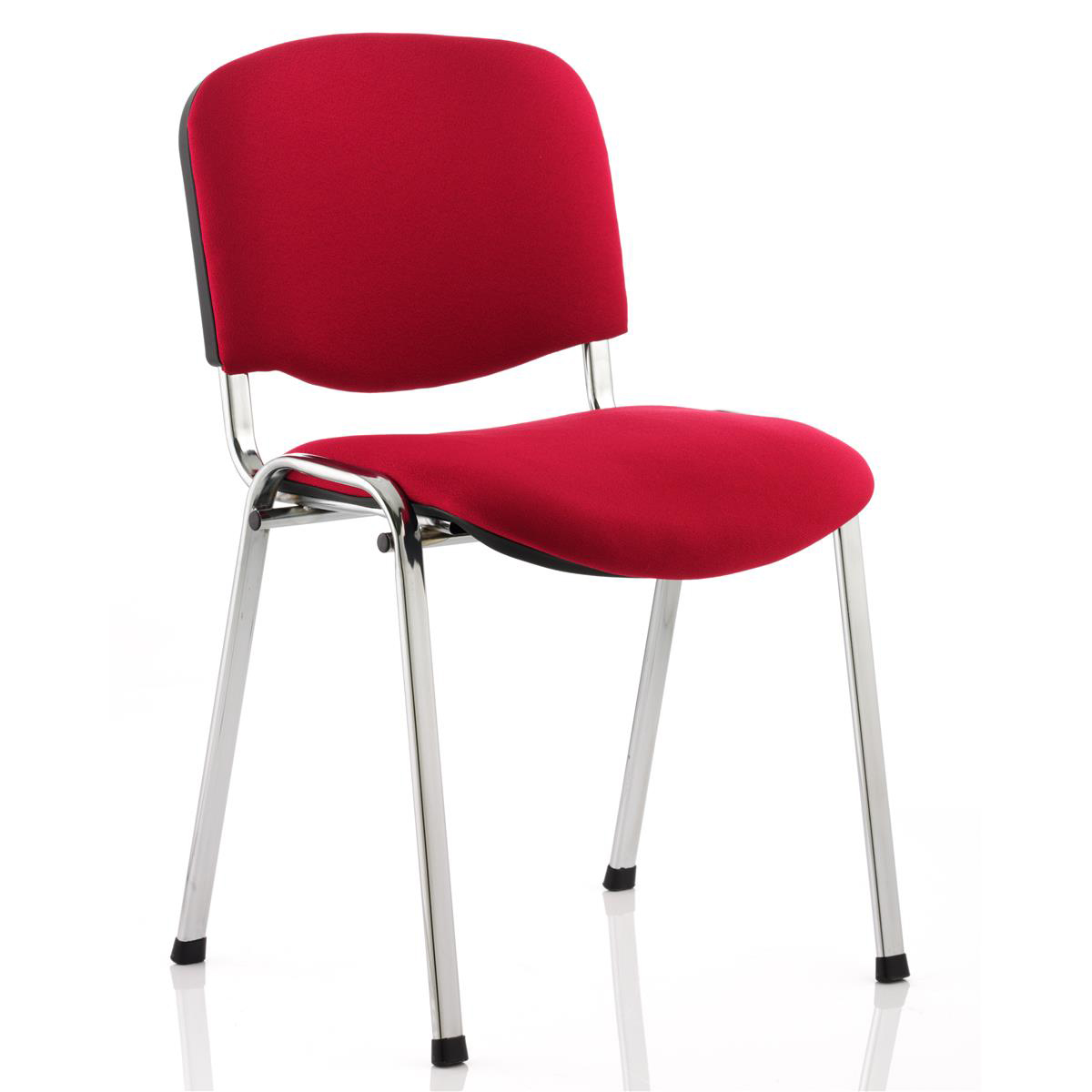 Trexus Stacking Chair Chrome Frame Red 480x420x500mm Ref BR000299