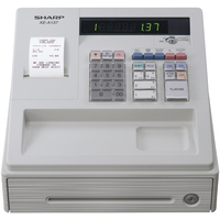 Tally Rolls Sharp XE-A137 Cash Register Thermal Print 200PLUs 8-departments Black Ref XEA137BK