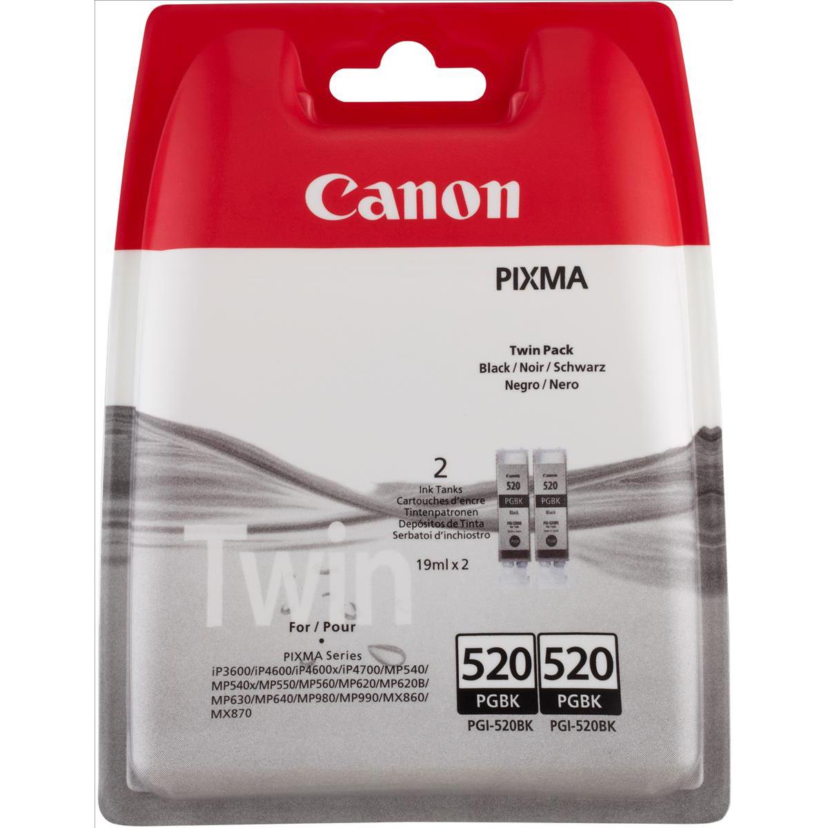Canon PGI-35BK Inkjet Cartridge Page Life 191pp 9.3ml Black Ref 1509B012 Pack 2