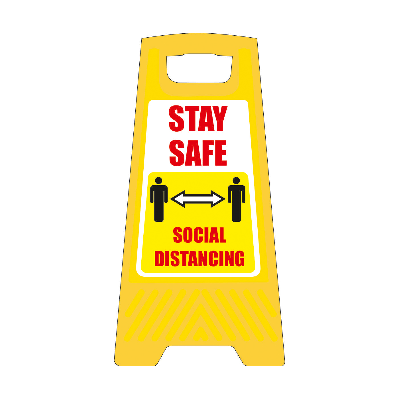 Safety signs Social Distancing Free Standing Floor Sign 300x600mm