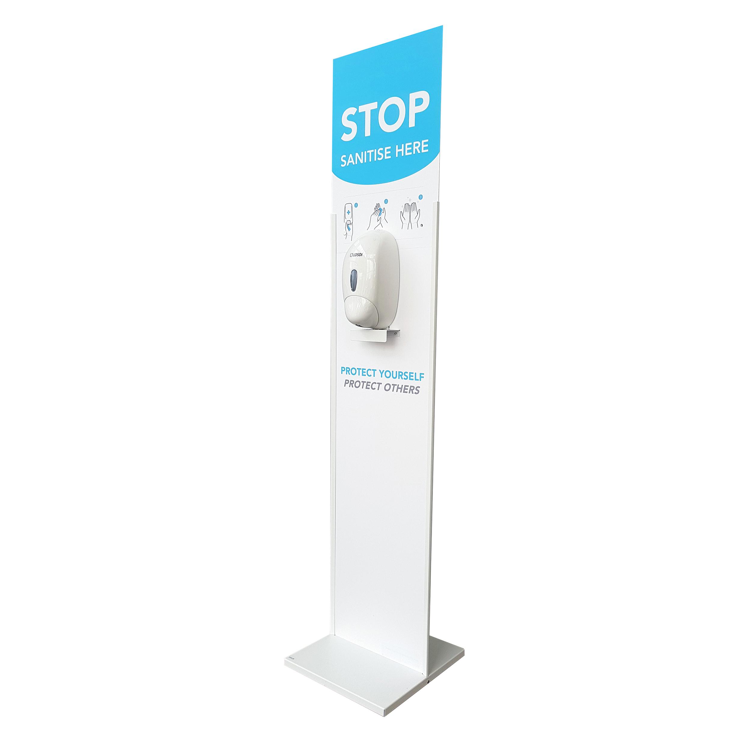 Institutional soap or lotion dispensers Floor Standing Hand Sanitiser Unit