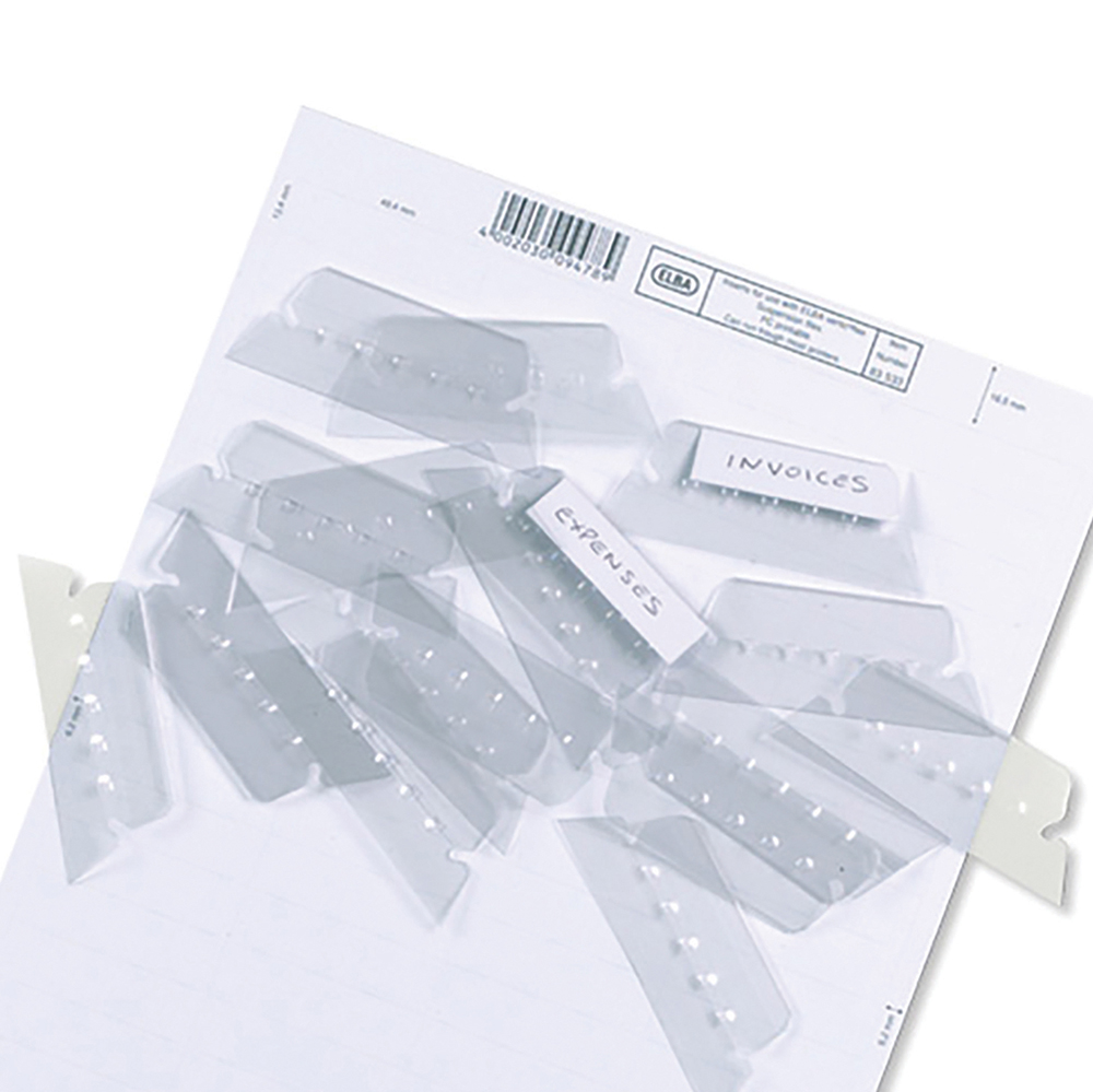 Elba Verticflex Card Inserts for Suspension File Tabs White Ref 100330218 [Pack 800]