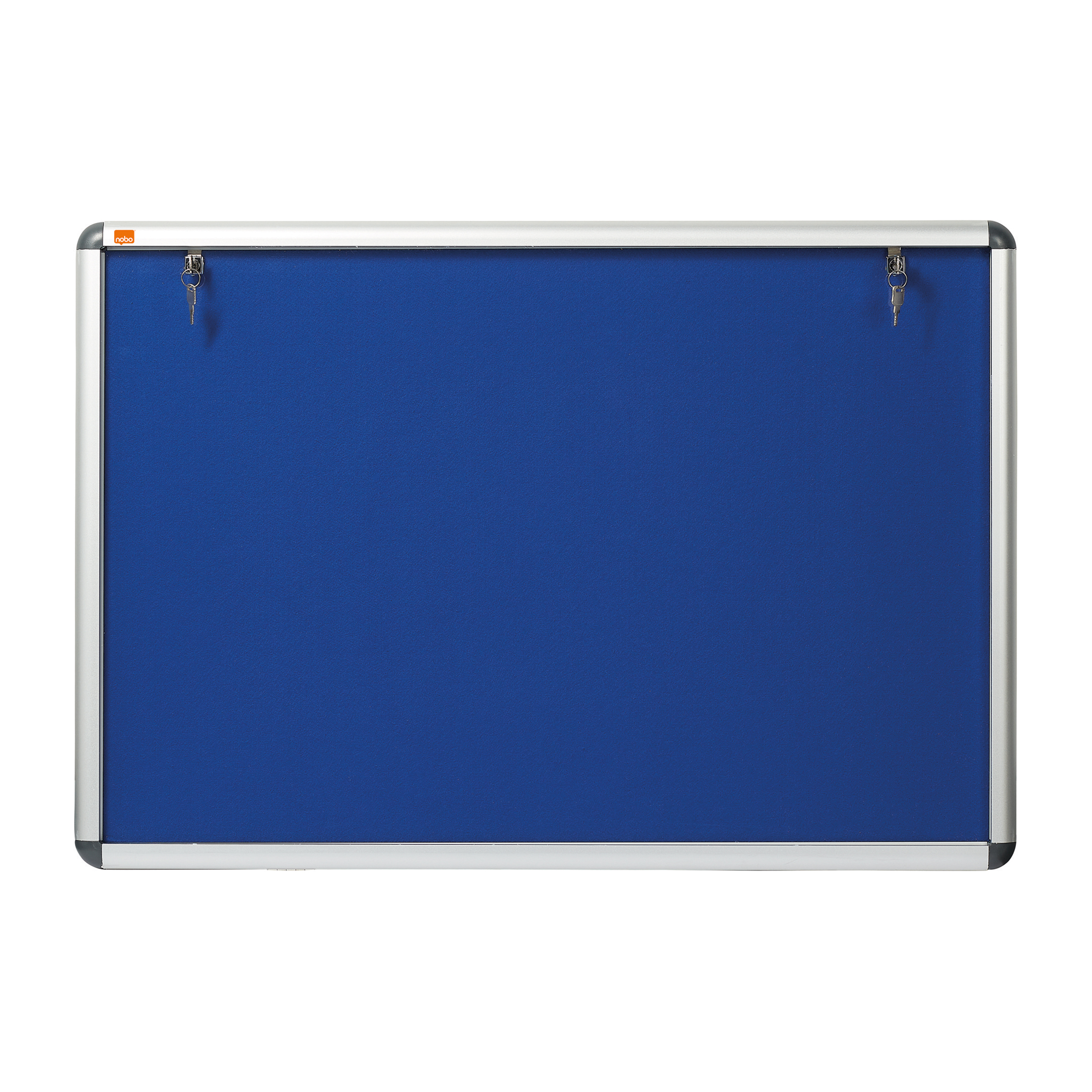 Glazed Nobo Display Cabinet Noticeboard Visual Insert Lockable A1 W1025xH745mm Blue Ref 1902048