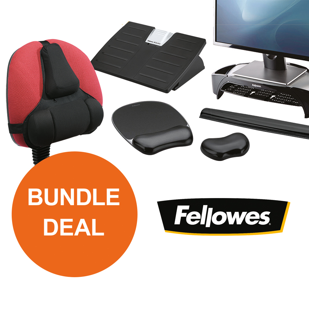 Back support rests Fellowes Ergonomic Bundle 3 [Bundle Offer] Oct - Dec 19