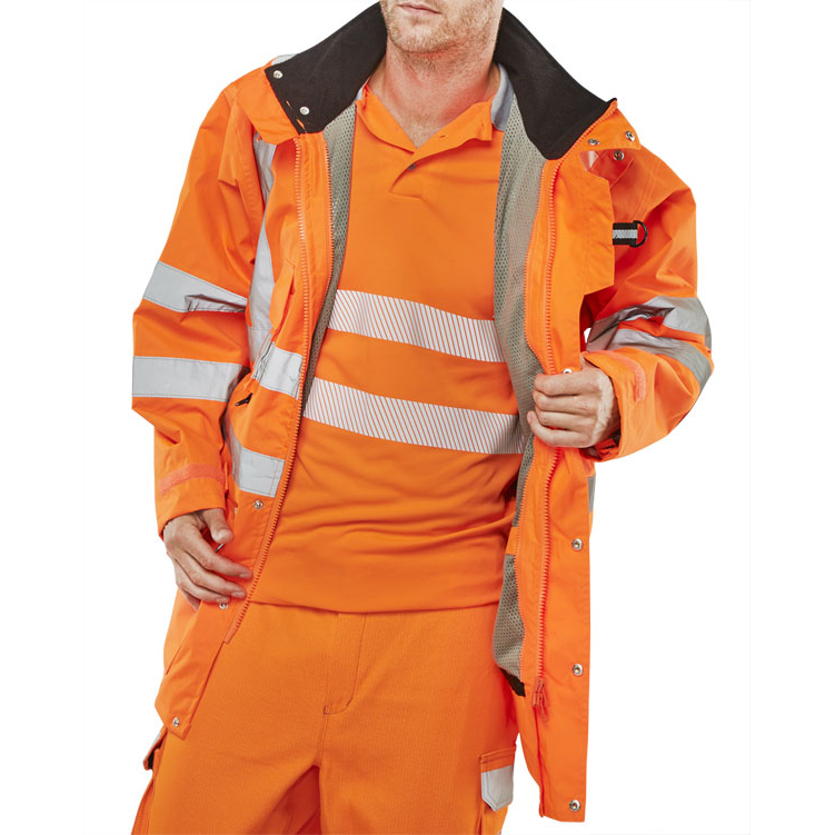 Bodywarmers B-Seen Elsener 7 In 1 High Visibility Jacket Medium Orange Ref 7IN1ORM *Up to 3 Day Leadtime*