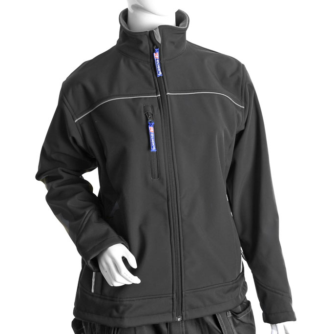 Soft Shell Click Workwear Ladies Soft Shell Water Resistant Jacket Medium Black Ref LSSJBLM *Up to 3 Day Leadtime*