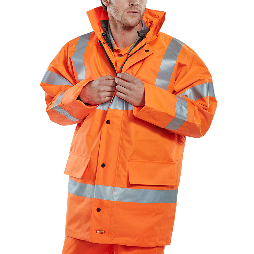 Body Protection B-Seen 4 In 1 High Visibility Jacket & Bodywarmer Large Orange Ref TJFSORL *Up to 3 Day Leadtime*