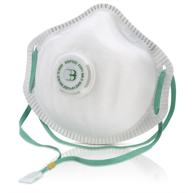 B-Brand P1 Premium Vented Mask Soft Foam Nose Seal White Ref BBP1VD [Pack 10] Up to 3 Day Leadtime