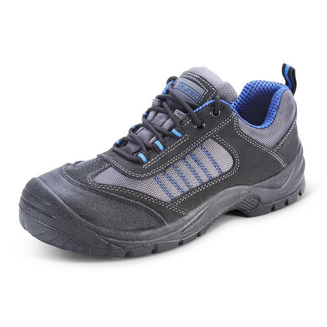 Click Footwear Mesh Active Trainers Size 4 Black/Blue Ref CF1704 *Up to 3 Day Leadtime*