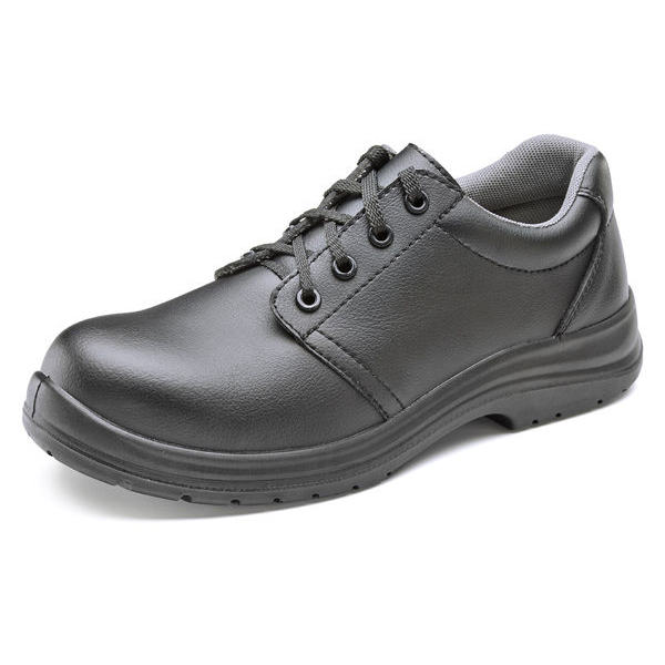Click Footwear Tie Shoes Micro Fibre S2 Size 10 Black Ref CF82310 Up to 3 Day Leadtime