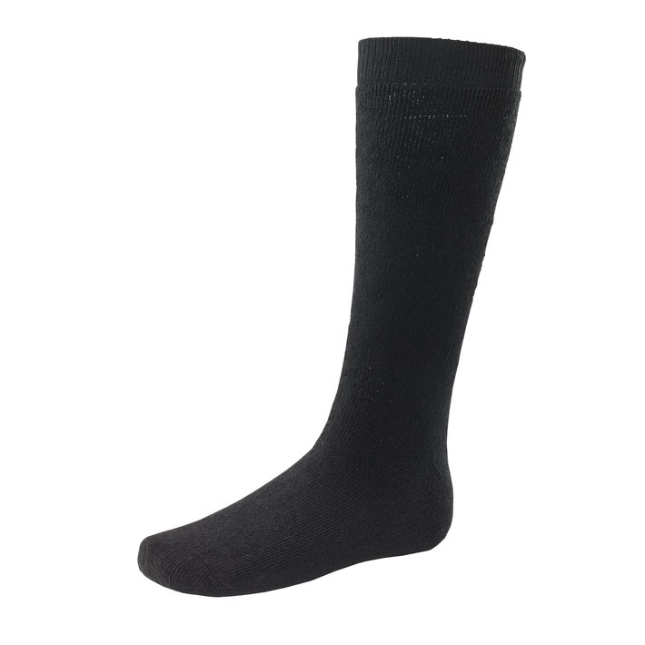 Footwear Click Workwear Thermal Terry Socks Long Cotton/Polyester Black Ref TSLL 3 Pairs *Up to 3 Day Leadtime*