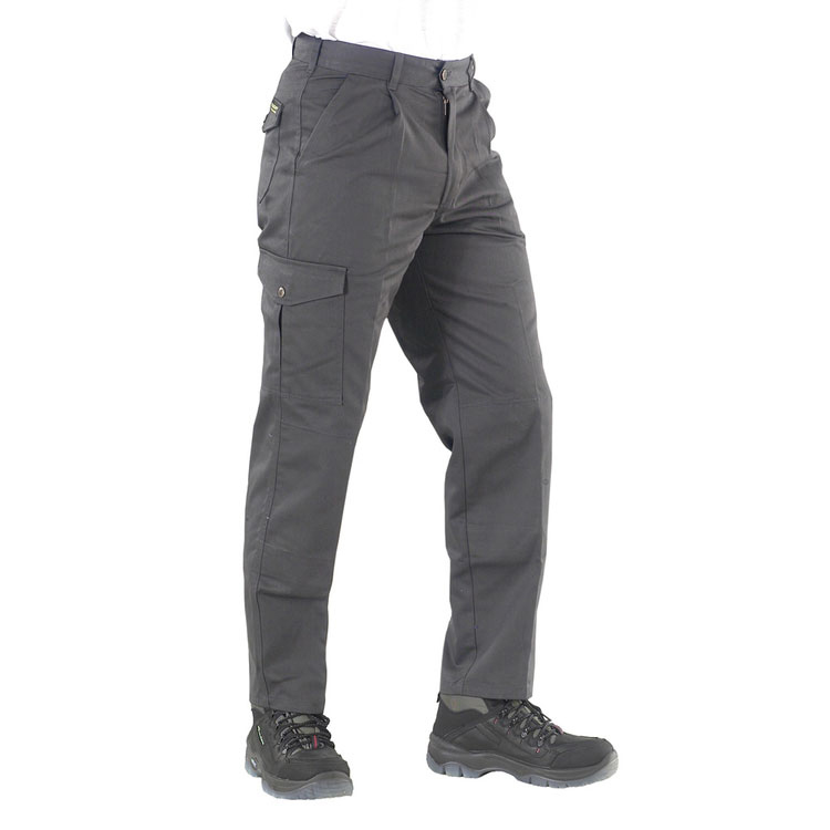 Mens slacks or trousers or shorts Click Heavyweight Drivers Trousers Flap Pockets Grey 46 Ref PCT9GY46 *Up to 3 Day Leadtime*